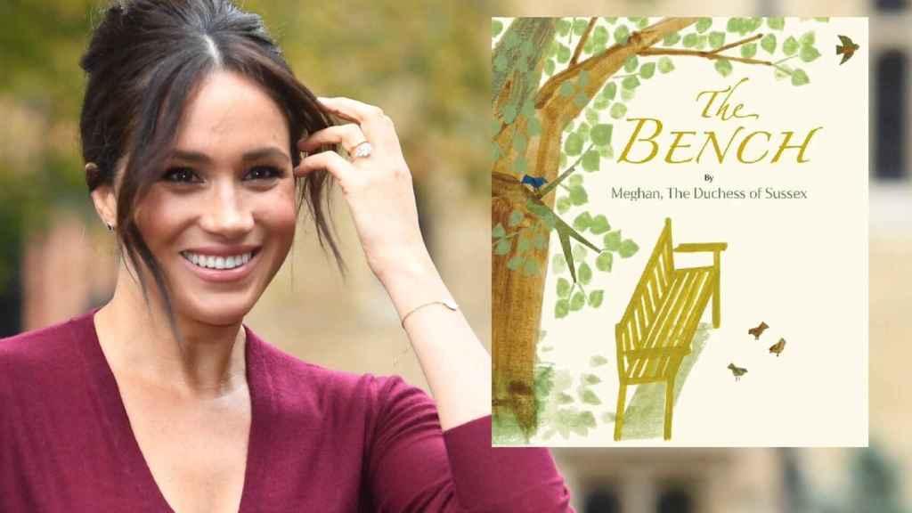 Meghan Markle, junto a la portada de su libro infantil 'The Bench'.