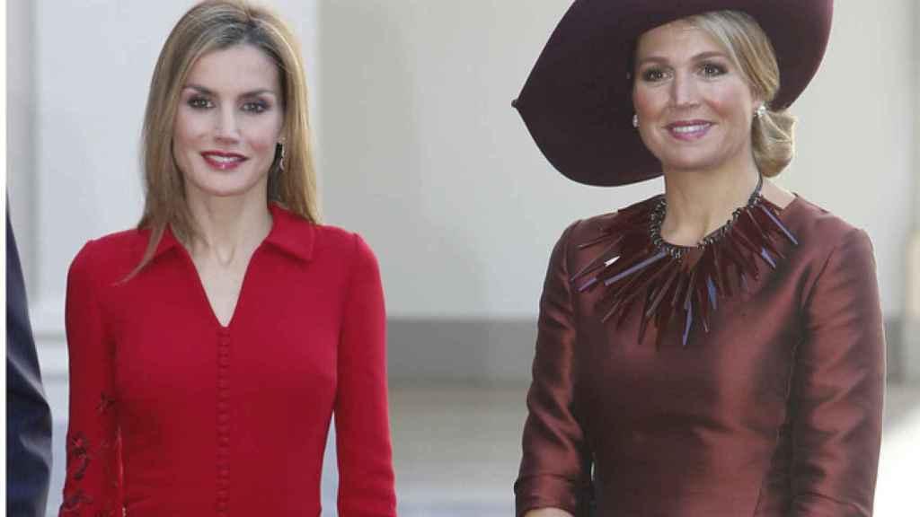 Letizia con Máxima Zorreguieta.
