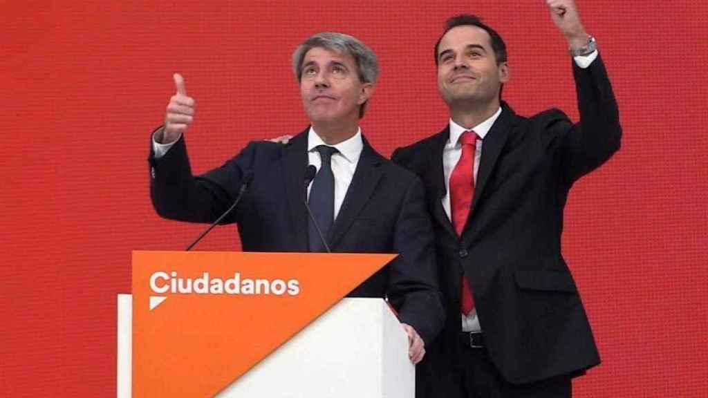 Garrido y Aguado, tras anunciar el fichaje del primero por Ciudadanos en 2019.