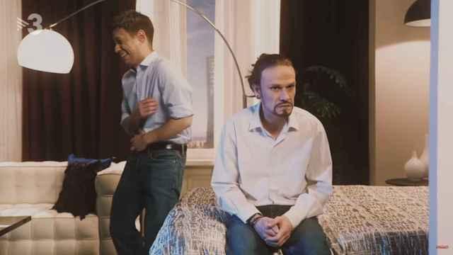 En el videoclip también aparecen otros dirigentes que celebran la marcha de Iglesias.