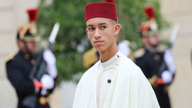 Moulay Hassan de Marruecos en el funeral de Jacques Chirac en septiembre de 2019.