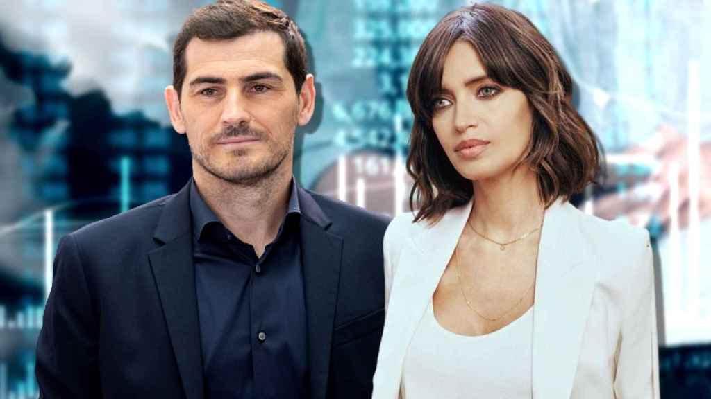 Sara Carbonero e Iker Casillas en un montaje de JALEOS.