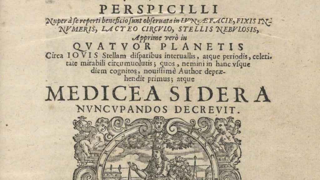 El 'Sidereus nuncius', la obra robada de Galileo.