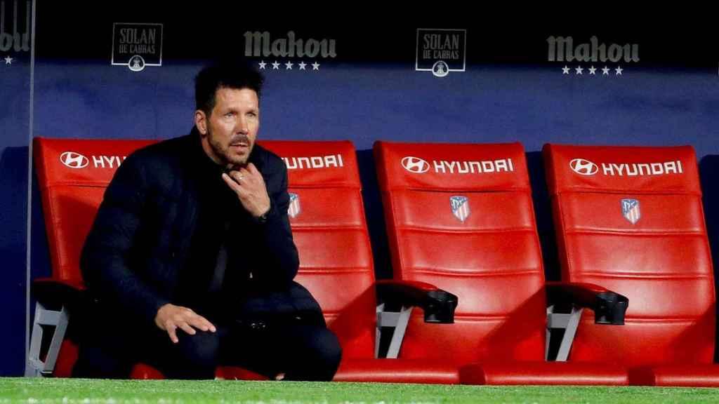 Simeone, en el banquillo del Atlético de Madrid