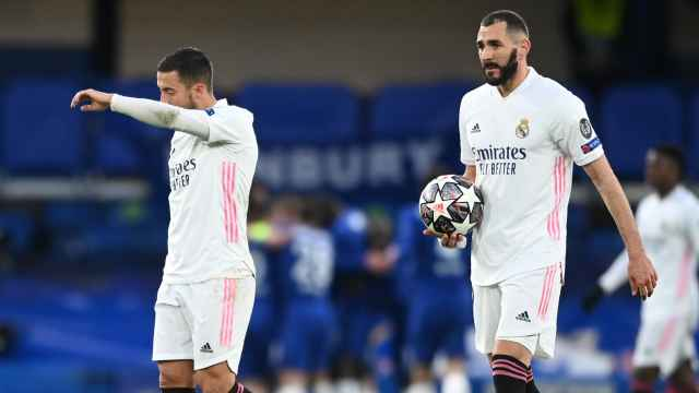 Hazard y Benzema, en Champions League