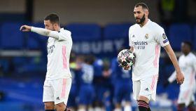 Hazard y Benzema, en Champions League