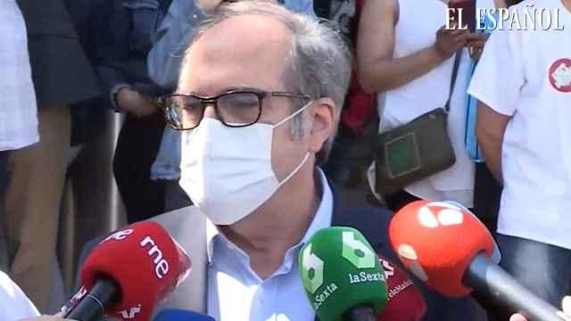 Declaraciones de Ángel Gabilondo a las puertas del hospital