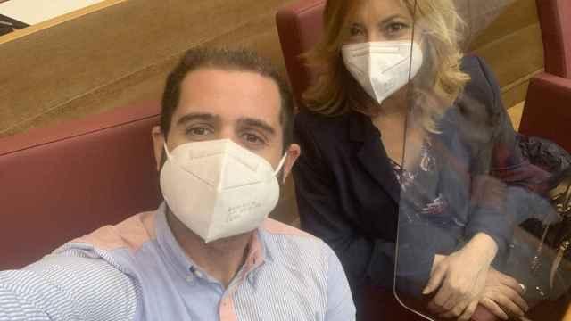 Jesús Salmerón y Cristina Gabarda. Jesús Salmerón