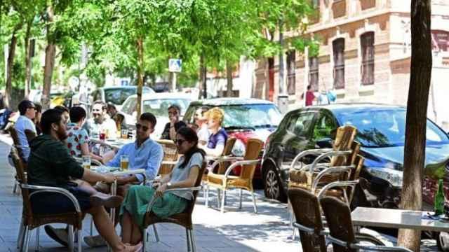 Una terraza en el centro de Madrid. Efe