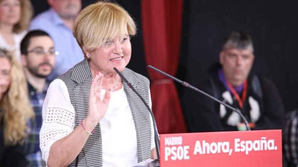 Isaura Leal durante un acto del PSOE.
