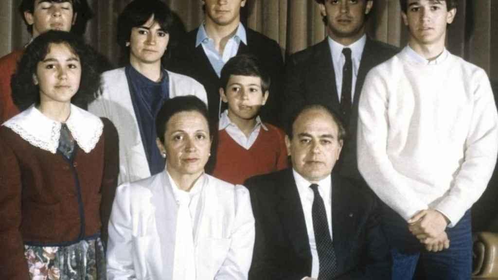 Jordi Pujol y su familia./
