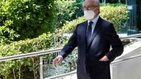 Antonio Brufau, este viernes a su salida de la Audiencia Nacional./