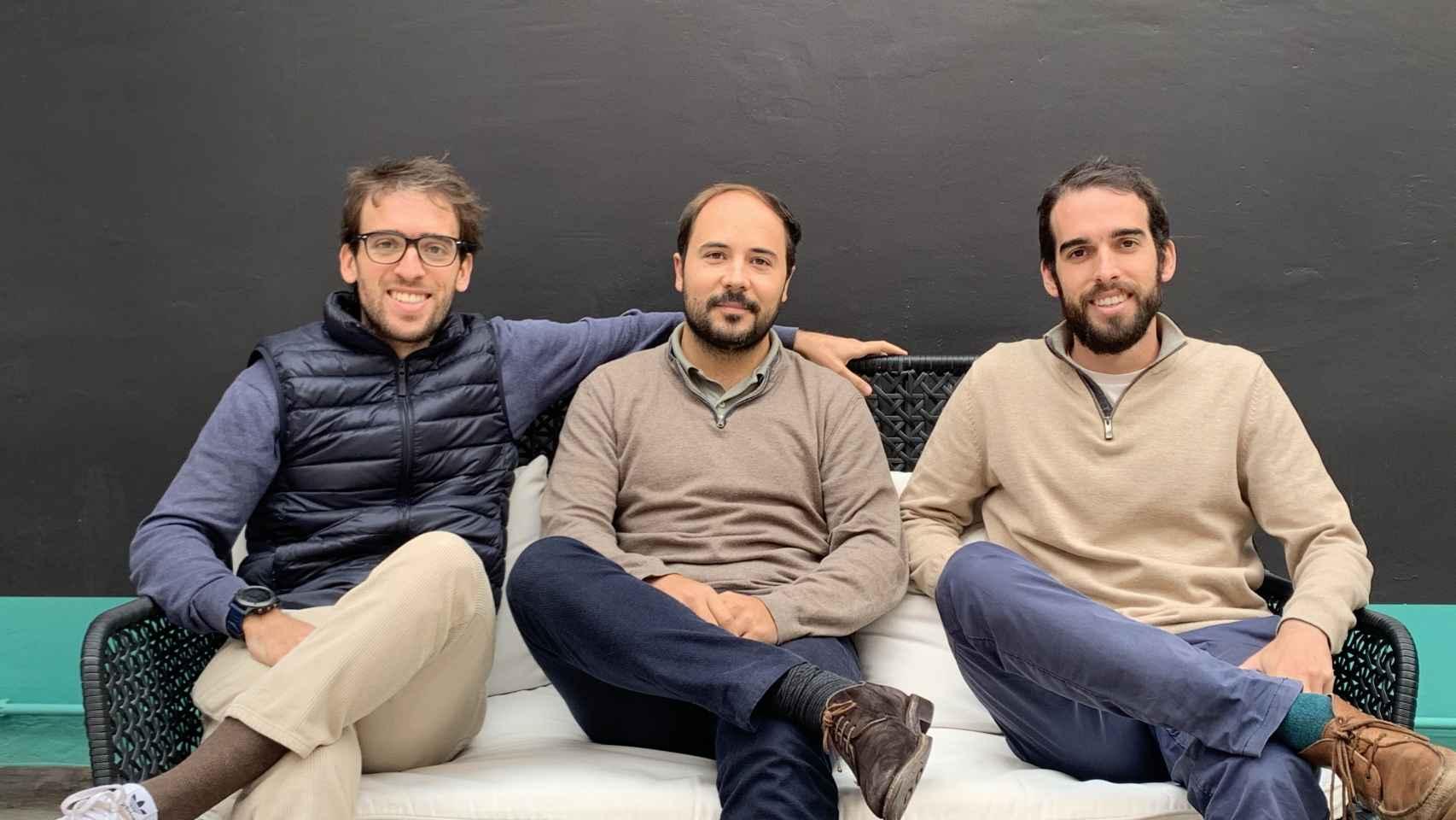 Álvaro Sanz, Javier Bosch y Joan Bosch, fundadores de Cleverea.