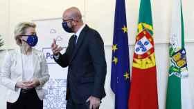 Ursula von der Leyen y Charles Michel, en la cumbre de Oporto