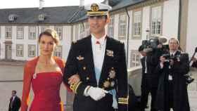 Letizia y Felipe en la boda de Copenhague.