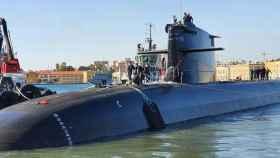 El S-81 ha tocado mar este viernes en el astillero de Navantia en Cartagena (Murcia).