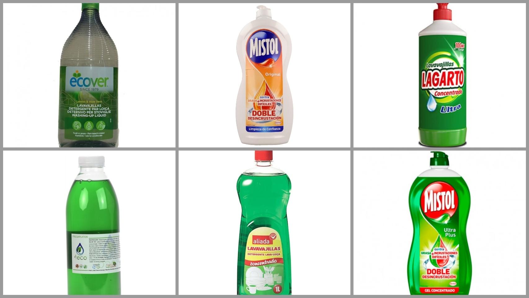 Los 12 peores detergentes lavavajillas para fregar los platos a mano, según la OCU