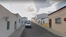 La calle San Cristóbal en Los Santos de Maimona (Badajoz), el lugar donde se halla la casa de los hermanos.