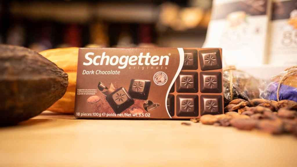 La caja de chocolate negro Schogetten, la marca blanca de Aldi.