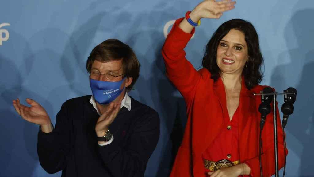 Ayuso y Almeida, la noche electoral.