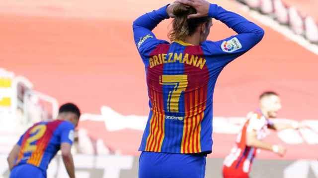 Griezmann se lamenta tras una oportunidad perdida