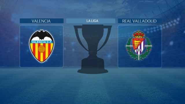 Valencia - Real Valladolid, partido de La Liga
