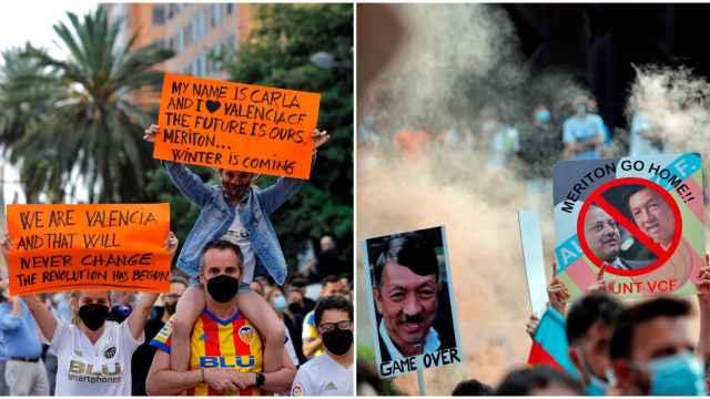 Protestas en Valencia contra Lim y Murthy