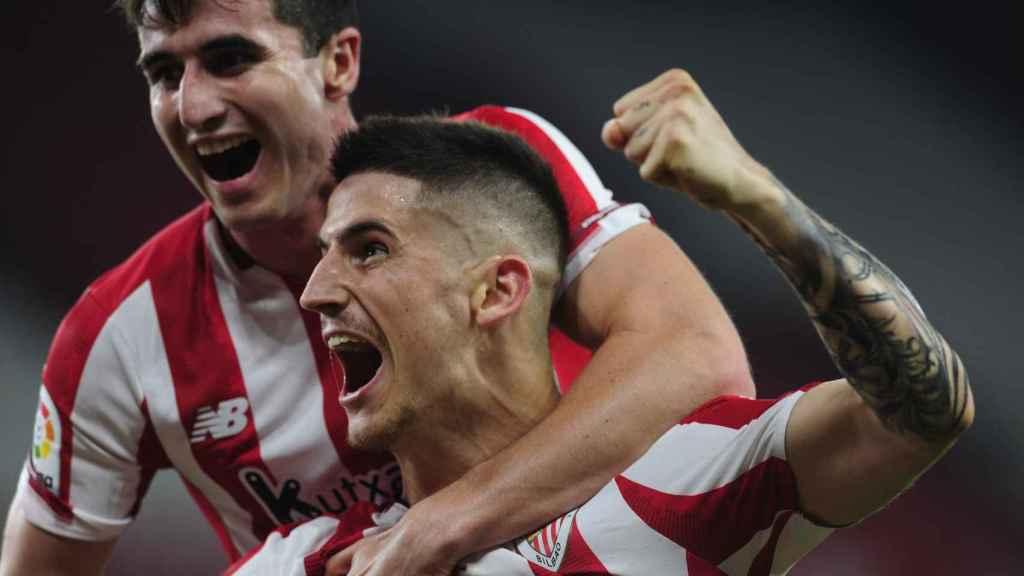 Sancet celebra un gol del Athletic