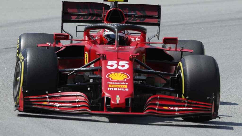 Carlos Sainz en la clasificación del Gran Premio de España de Fórmula 1
