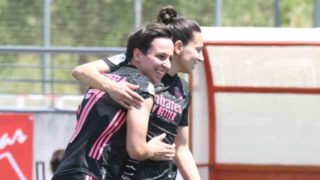 Marta Corredera celebra su gol con el Real Madrid Femenino