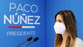 Carolina Agudo, secretaria general del PP-CLM, este sábado en rueda de prensa