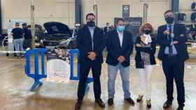 El viceconsejero de Educación, Amador Pastor, en las competiciones de Reparación de Carrocería y de Tecnología del Automóvil en Cuenca