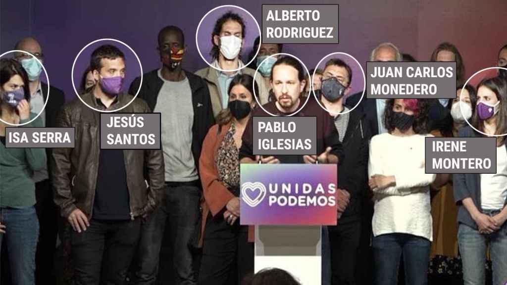 La foto del fin de Podemos: tres condenados, dos investigados y el 'caso Dina' acechando a Iglesias
