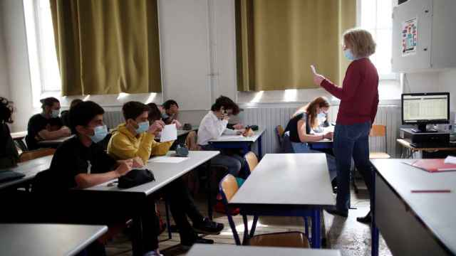 Un aula de una escuela francesa.