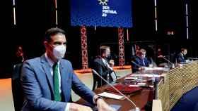 El presidente del Gobierno, Pedro Sánchez, este sábado durante la cumbre de Oporto