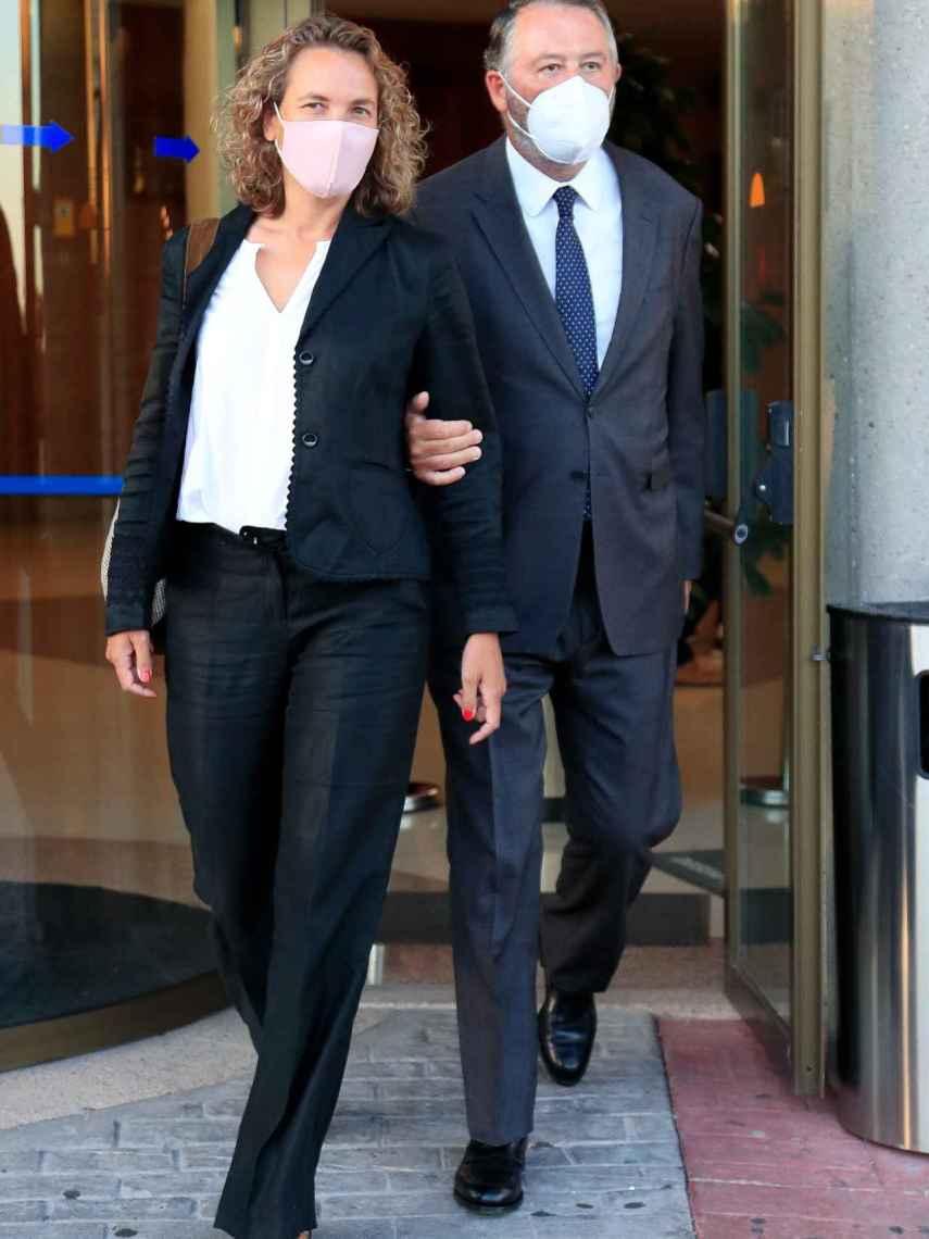 Alejandra Salinas y José María Michavila, en una imagen de septiembre de 2020.