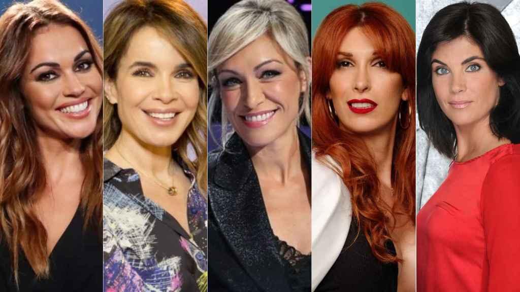Lara Álvarez, Carme Chaparro, Luján Argüelles, Valeria Vegas y Samanta Villar.