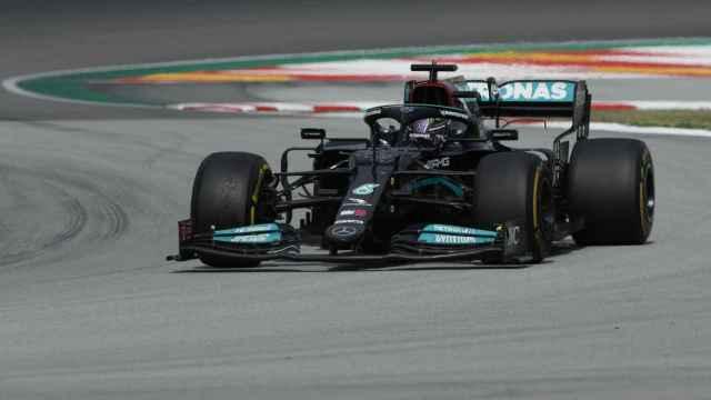 Lewis Hamilton en la carrera del Gran Premio de España de F1