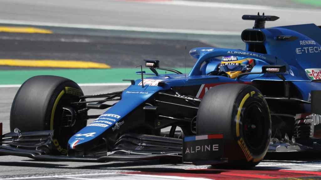 Fernando Alonso, durante el Gran Premio de España de F1 2021