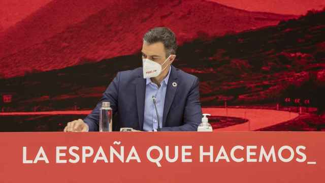 El presidente del Gobierno, Pedro Sánchez, durante la última Comisión Ejecutiva Federal del PSOE.