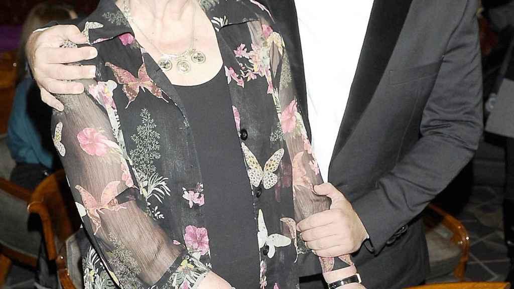 Jorge Javier junto a su madre en una imagen de archivo, de 2013.