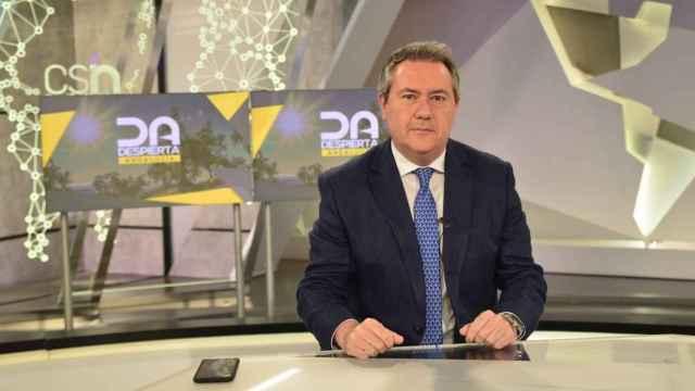 El candidato a las primarias del PSOE andaluz y alcalde de Sevilla, Juan Espadas.