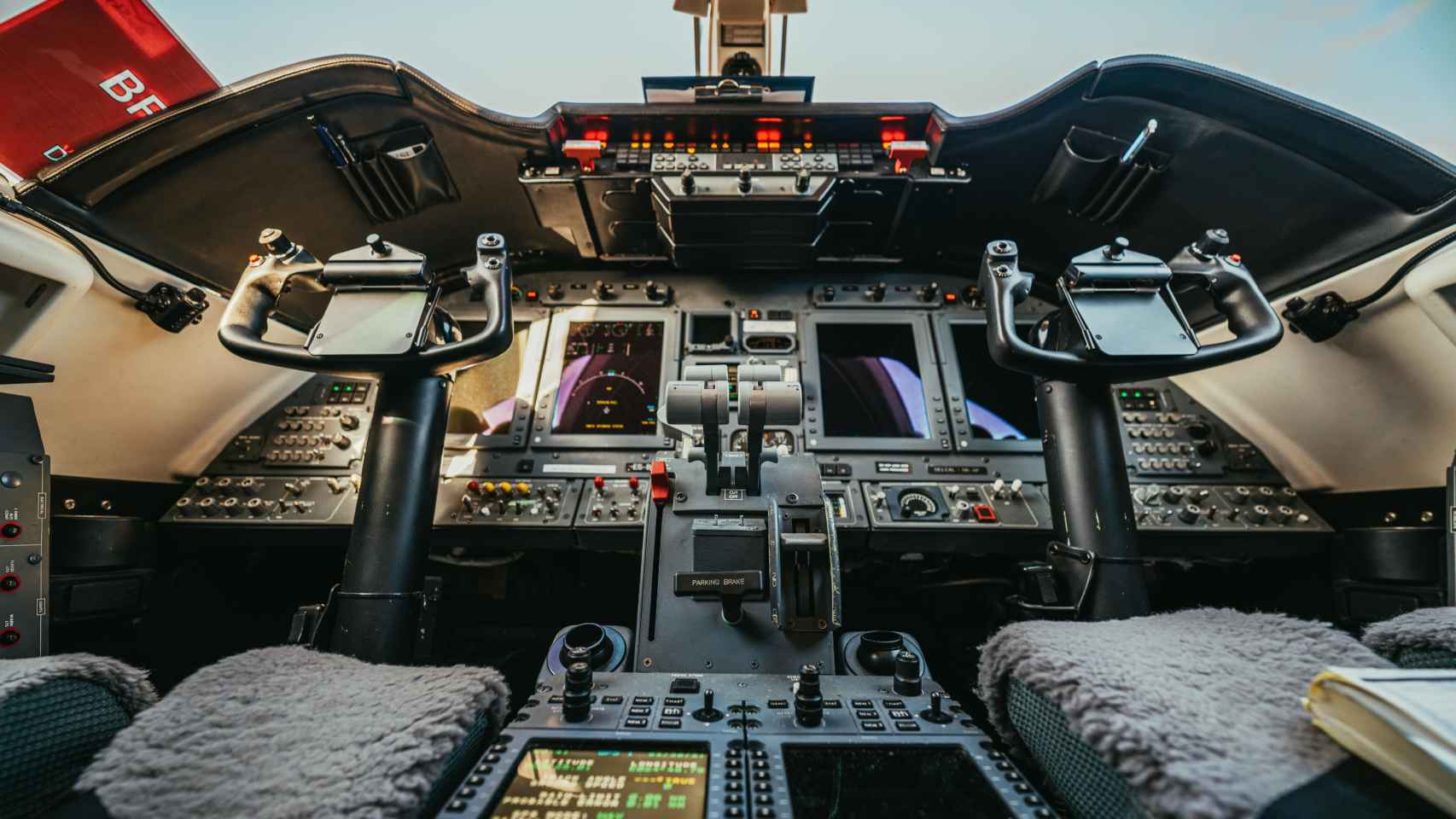 Cabina de avión en una imagen de archivo.