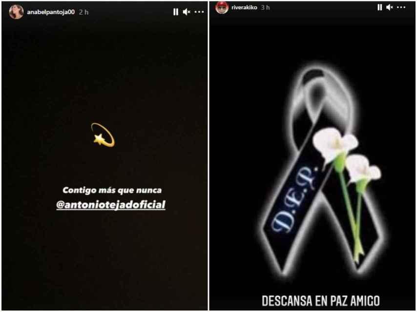 Kiko Rivera y Anabel Pantoja dan el pésame a Antonio Tejado en las redes sociales.