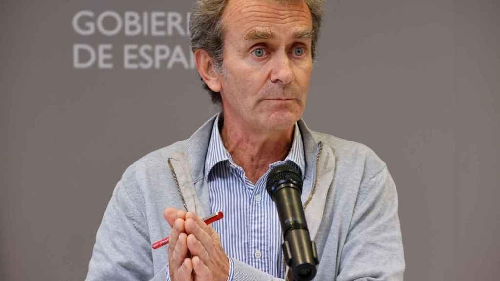 El director del CCAES, Fernando Simón, durante la rueda de prensa ofrecida este lunes.