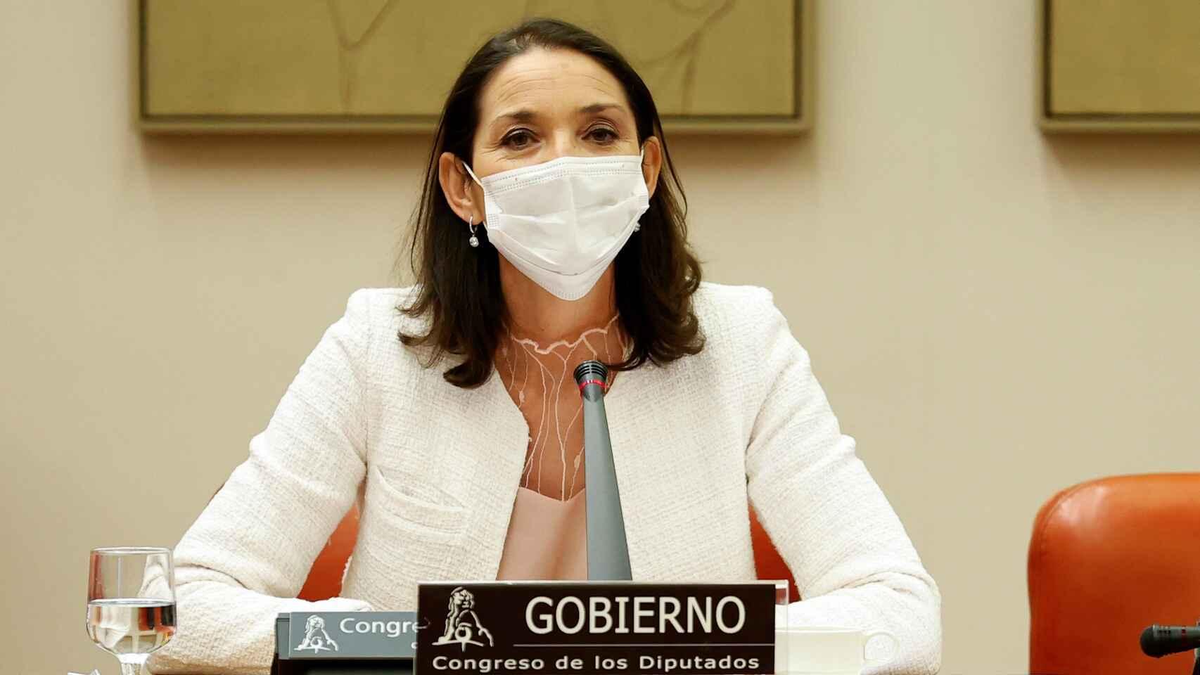 La ministra Reyes Maroto, durante una intervención.