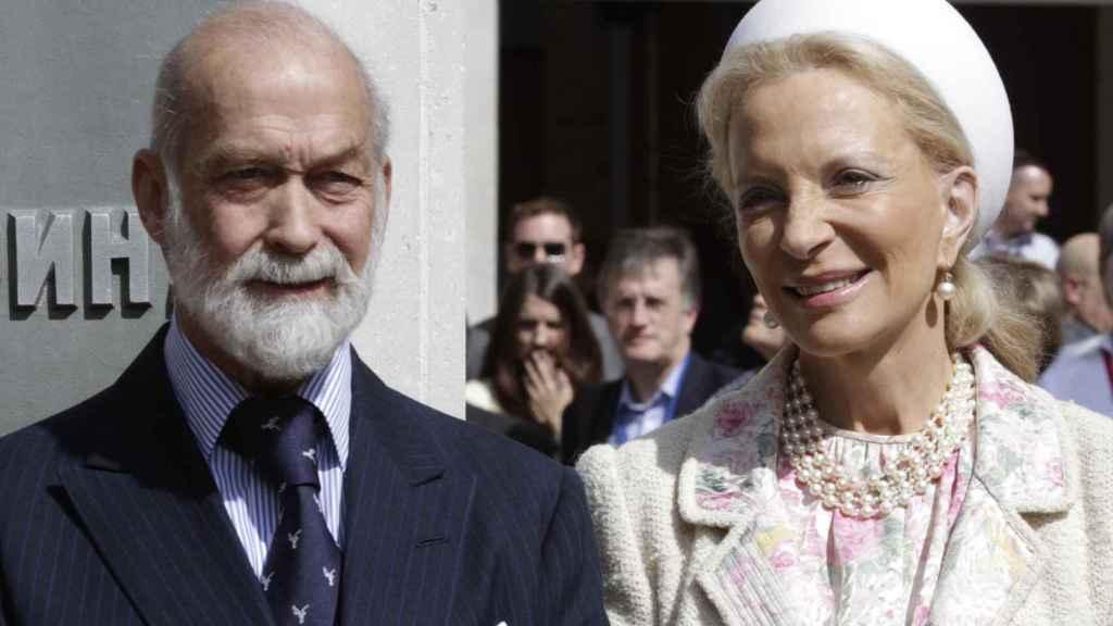Michael de Kent y su mujer, María Cristina, durante un acto en Londres.