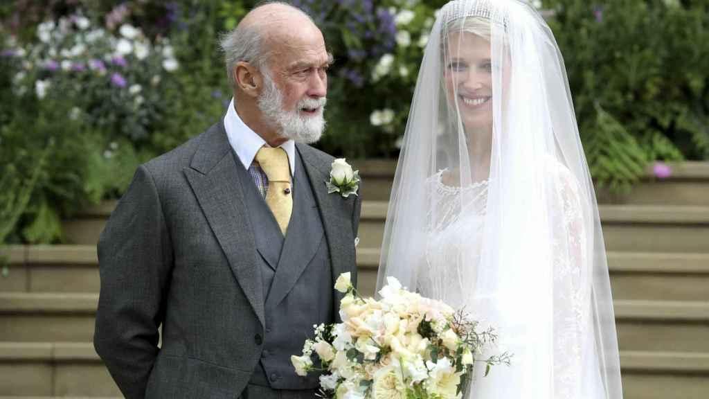 Michael de Kent y su hija Gabriella el día de su boda.