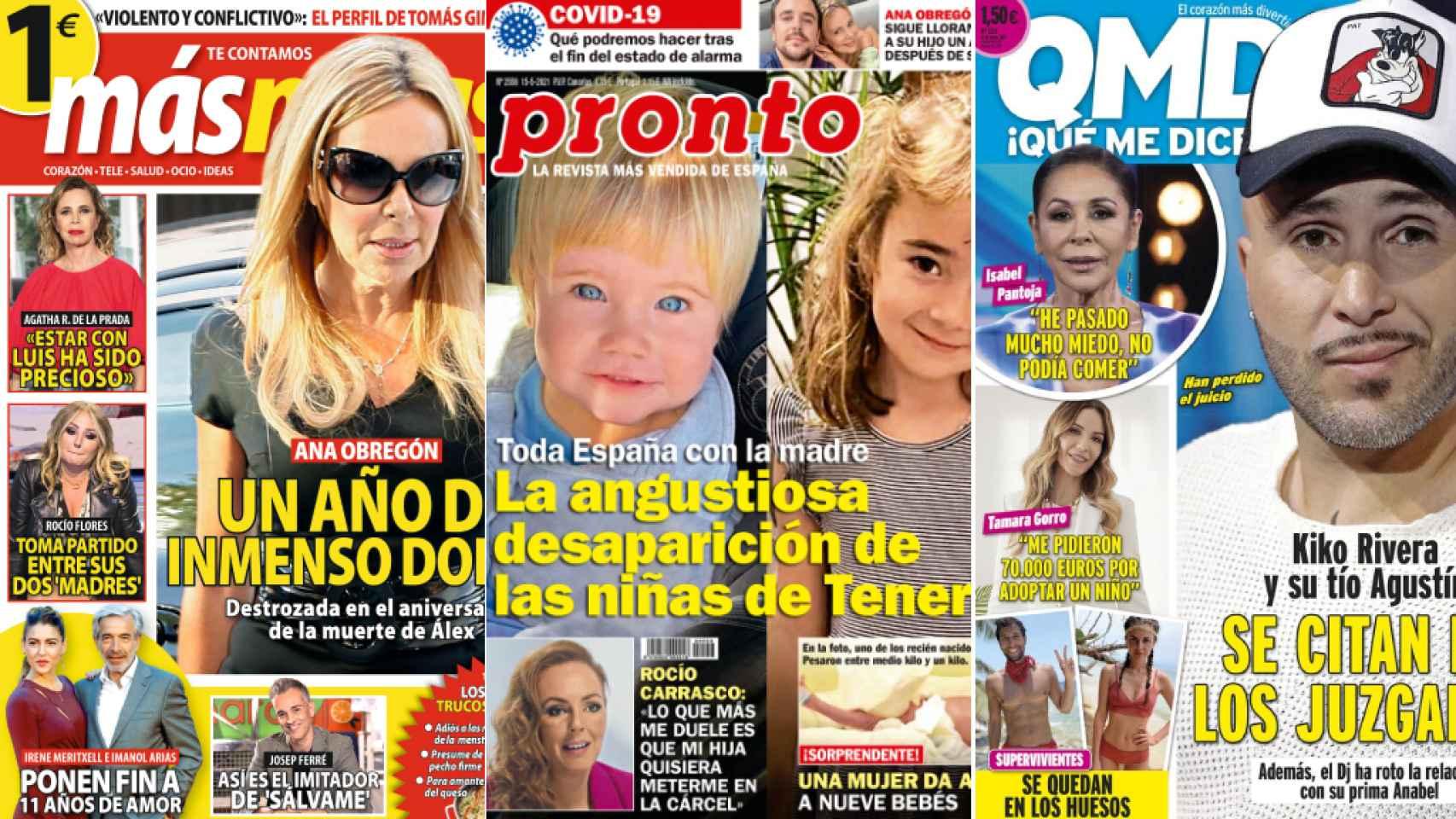 Portadas de las revistas del 10 de mayo de 2021.
