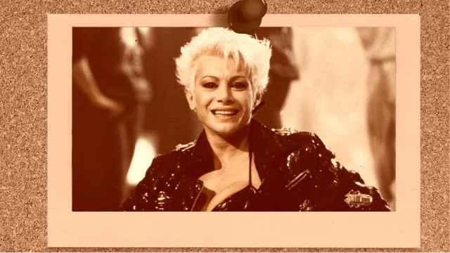 Carmen Russo en un montaje de JALEOS.